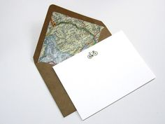 OLIVE BICYCLE A6 NOTE CARDS