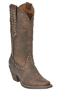 Ariat Ladies Sassy Brown Rhinestone Cowgirl Snip Toe Western Boots-Love these!