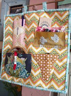 Embroidery supplies wall organizer. Zakka2
