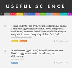 Useful Science - a curated collection of useful science info delivered in 5-second bytes - http://usefulscience.org/