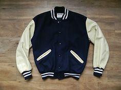 Newly added today...DeLONG navy/ ivory varsity jacket.  Super sharp!