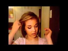 This girl has the best hair tutorials for short hair! All of them are super quick and easy.