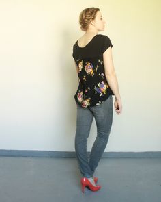 Refashioned: Floral Panel Tee