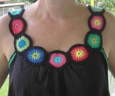 A simple granny square neckline