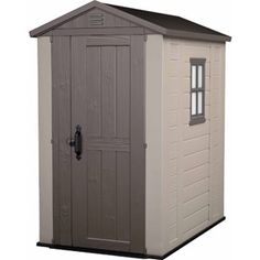 Keter Factor 4' x 6' Storage Shed, Taupe
