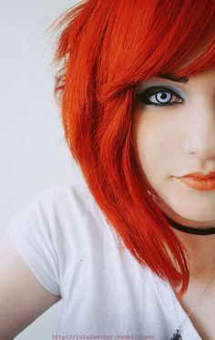 Orange Hair & Lip Stick