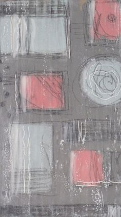 Abstract #7  By Karla Englehardt. encaustic painting