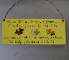 When life hands you a puzzleChristian Inspirational by ifrogcrafts