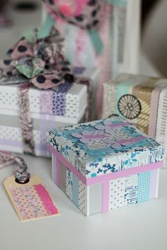 washi tape packaging #washitape #washi #purple #pink