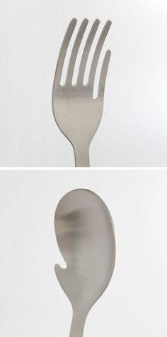 Hand Fork & Hand Spoon by Mitsubai Tokyo.