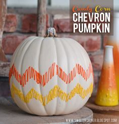 The Swell Life: Candy Corn Chevron Pumpkin DIY