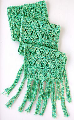 Silkwing Scarf, free knitting pattern from KnitCulture
