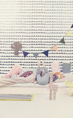 wallpaper/pillows/fabric  my scandinavian home: Children's bedrooms