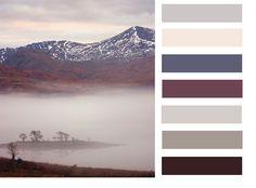 misty mountain colour scheme
