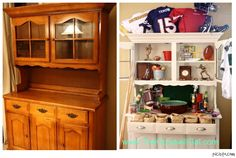 Eve, my #Goodwill hutch on game day! #thrift #DIY #Football #sports