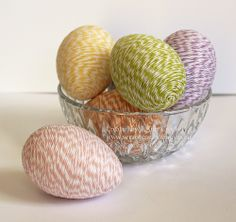 Twine Wrapped Eggs