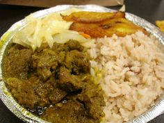 Curried Goat w/ Rice, Steamed Cabbage & Plantains by MidtownLunch, via Flickr