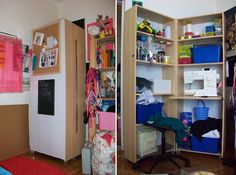 (what an awesome idea!!) Ikea billy bookcase craft space
