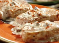 Creamy ranch pork chops! This was great with some fresh green beans and angel hair pasta for sides.
