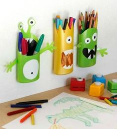 Recycled Crafts: Shampoo Bottle Monsters - Fun Crafts Kids