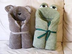 diy hooded towels tutorial. so cute!