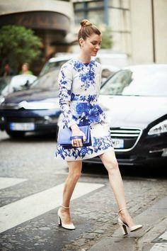 white and blue #dress #white #blue #fashion