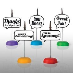 Leave a note of praise attached to these cute Memo Clips on your team member's  desk! ~Kl