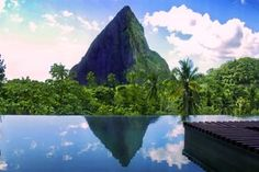The Hotel Chocolat in St. Lucia. The Hotel Chocolat rests on a cocoa plantation, The Rabot Estate, located in St. Lucia's southwest coast near Soufrière.