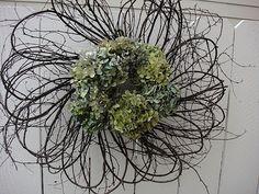 Hydrangea Wreath by donnahubbard on Etsy, $65.00