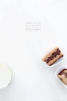 Cookie Butter Rice Krispie with Pirouline Cookies via Bakers Royale