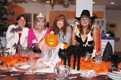 Author #JoanJohnston in her #Halloween costume!  Q: Tell us about this Halloween photo. I love having Halloween parties.  Here I am dressed as--what else?--a cowgirl!   Three other authors were visiting my home for a brainstorming session and attended my party, which was held five or six years ago.  (from left to right: CJ Lyons, Peggy Webb, Toni McGee Causey, and Joan Johnston.)  Q: What's your favorite fantasy novel: My favorite fantasy novel is anything featuring Harry Potter.  He rocks!