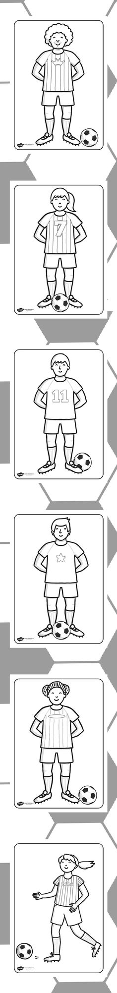 Football/World Cup- Football Players Colouring Sheets