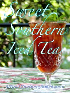 Sweet Southern Iced Tea
