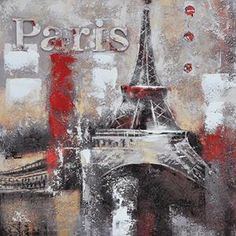 Memories Of Paris Painting in Multi-color
