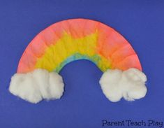 Spring showers bring May flowers . . . and rainbows! Here's a fun coffee filter rainbow craft that's perfect for springtime!