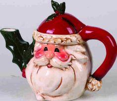 "10"" Santa Teapot"