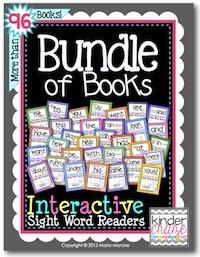 Bundle of Books Interactive Sight Word Reader from Kinder Craze on TeachersNotebook.com -  (700 pages)  - Set of 100 Interactive Sight Word Readers - buy them as a bundle and save 50%!
