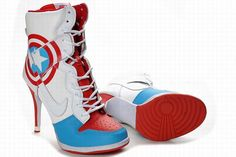 Captain America Nike High Heels.