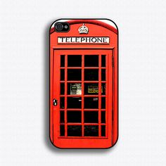 Vintage London British Phonebooth - iPhone 4 Case, iPhone 4s Case, iPhone 4 Hard Case, iPhone Case. $17.99, via Etsy.