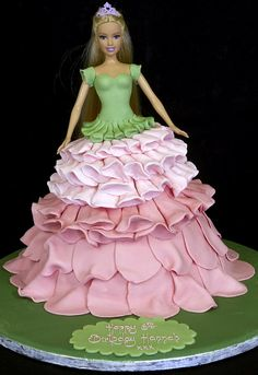 Barbie Cake #wedding #cake www.BlueRainbowDe...