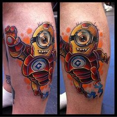 Minion Iron Man tattoo despicable me