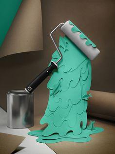Paint & splash by Fideli Sundqvist, via Behance
