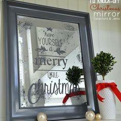 holiday, mirrors, craft, pottery barn inspired, potteri barn, christma mirror, mercury glass, barns, diy christmas