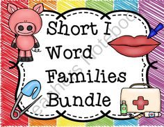 Short i Word Families Word Work Bundle from Teaching Superkids on TeachersNotebook.com -  (174 pages)  - Short i Word Families Word Work Bundle