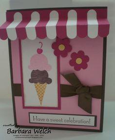 Cute ice cream card
