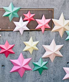 3D bright paper stars