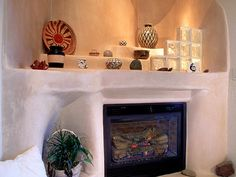 Style discovery southwestern inspired design on pinterest for Southwestern fireplaces
