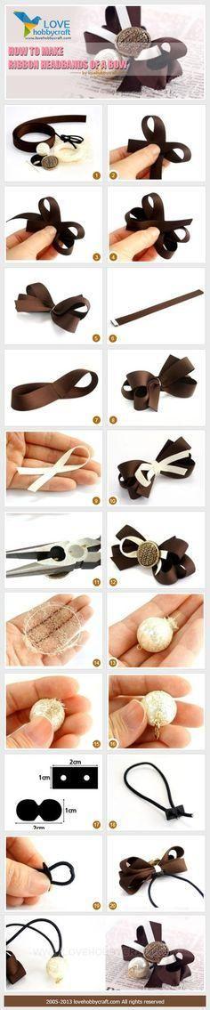 DIY Ribbon DIY Flowers How to make ribbon headbands of a bow