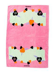 { chanel beach towel }