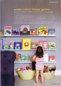 """""""How To Create A Kid's Library Gallery"""" from Inside Out magazine."""